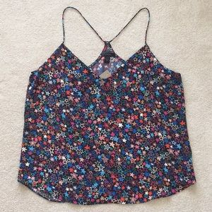 J. crew Carrie Cami in Kaleidoscope Star Print